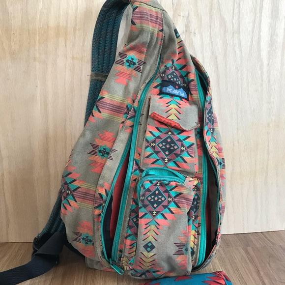 a6223cbbe4 Kavu Handbags - Kavu aztec southwestern backpack purse rope bag